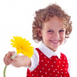 Foto Stock: Girl with flower