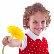 Girl with flower — Stock Photo