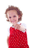 Little girl pointing — Stock Photo