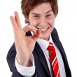 Business man saying ok - Stock Photo