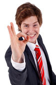 Business man saying ok — Stock Photo