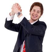 Business man celebrating — Stock Photo