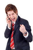 Winning on the phone — Stock Photo