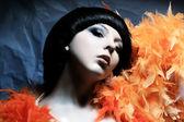 Fashion beautiful brunette women in plum — Stock Photo
