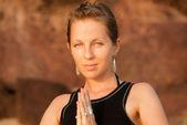 Venkovní jóga — Stock fotografie