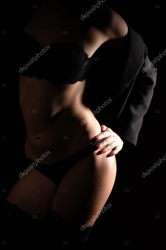 Glamour woman in lingerie on dark background  Stock Photo #2695362