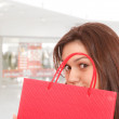 Shopping at the shopping mall — Stock Photo