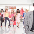Portrait of a salesman in the shopping mall — Stock Photo