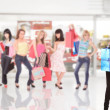 Group of friends shopping in a mall — Stock Photo #2796916