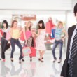 Portrait of a salesman in mall — Stock Photo