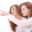 Two girl friends — Stock Photo