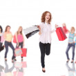 Group of shopping girls - Foto Stock