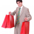 Happy shopping man - Stockfoto