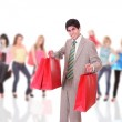 Handsome young man shopping — Stock Photo #2865406