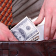 Money in a businessman hands — Stock Photo #2865775