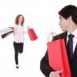 Couple with shopping bags — Stock Photo #2878693