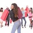 Happy woman with shopping bags - Foto de Stock