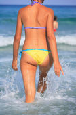 Woman on the beach in Greece — Stock Photo