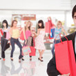 Handsome young man shopping — Stock Photo