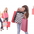 Happy woman with shopping bags — Stock Photo #2896424