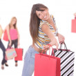 Happy woman with shopping bags — Stock Photo #2896428