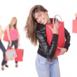 Happy woman with shopping bags — Stock Photo #2896437