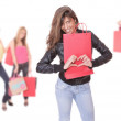 Happy woman with shopping bags — Stock Photo #2904573