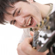 Man with guitar — Stock Photo