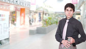 Portrait of a salesman — Stock Photo