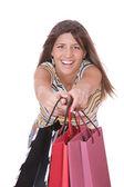 ショッピングのきれいな女性 — ストック写真