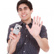 Man taking pictures - Stock Photo