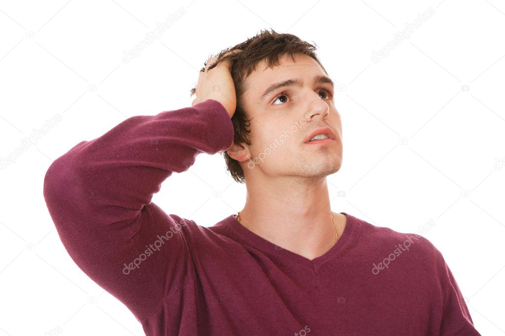 Casual man isolated over a white background — Stock Photo #2965780