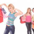 Group of shopping girls — Stock Photo #2993923