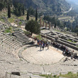 Delphi Tholos at late afternoon - Stock Photo