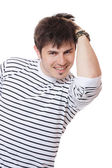 Happy young casual man portrait — Stock Photo