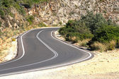 Vägen i kretensiska bergen — Stockfoto