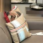 Modern leather sofa — Stock Photo