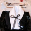 Table set for a wedding — Stock Photo #3008761
