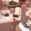 Table set for a wedding - Stock Photo
