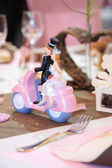Table set for a wedding — Foto Stock