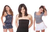 Gruppo di felice belle ragazze — Foto Stock