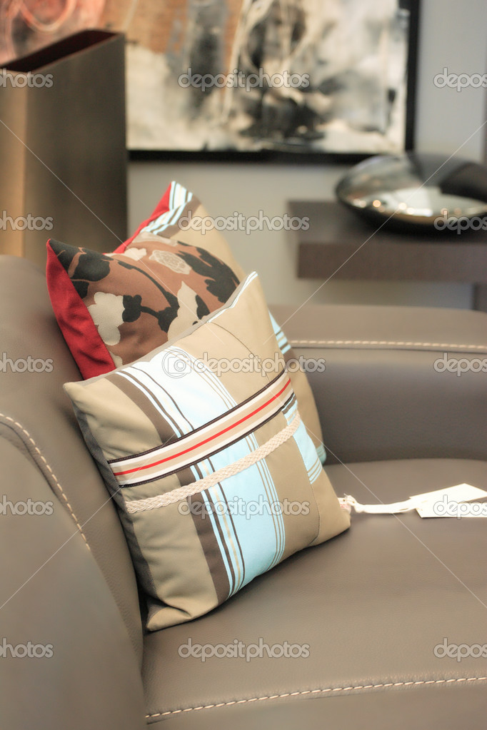 Interior Modern leather sofa  — Stock Photo #3008702