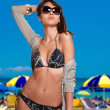 Woman in bikini — Stockfoto