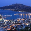 Nigh view on Zante town — Stock Photo