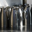 Stock Photo: Stainless pitchers