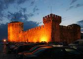 Castle at night in Croatia — Stock Photo