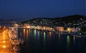 Cityscape at night in Trogir, Croatia — Stock Photo