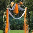Decorated archway for wedding — Stock Photo