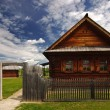 Finnish wooden house — Stock Photo
