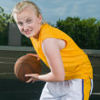 Teenage girl with basketball — Stock Photo #3532642